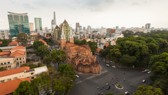Notre Dame Cathedral in Ho Chi Minh City, Vietnam video
