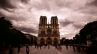 Notre Dame cathedral in Paris, France video