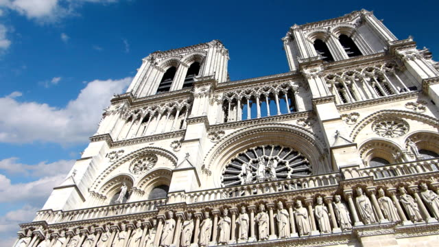 Notre Dame Cathedral in Paris, timelapse video