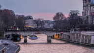 Notre Dame Cathedral sunset timelapse in Paris video