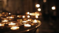 Notre Dame cathedral with candlelight, Paris, France video
