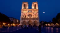 Notre-Dame Cathedral, Paris, Day to Night Time Lapse video