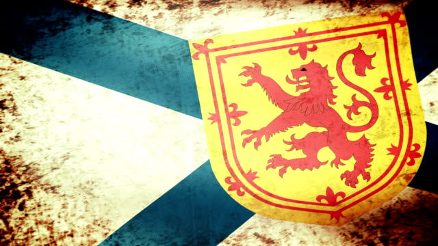 Nova Scotia Flag Waving, grunge look video