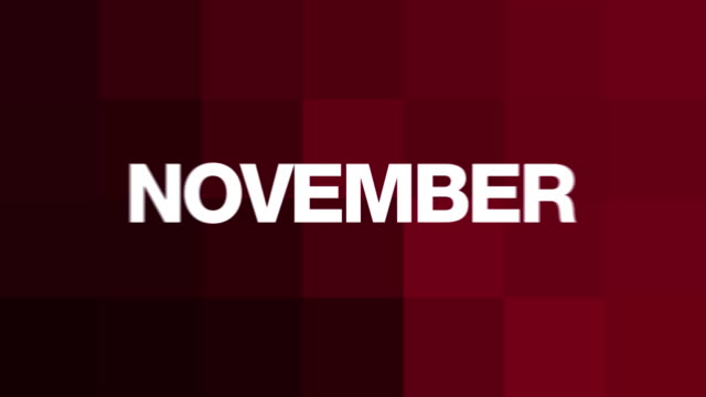 November Text Madness (HD Loop) video