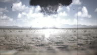 Nuclear Explosion 16mm style footage video