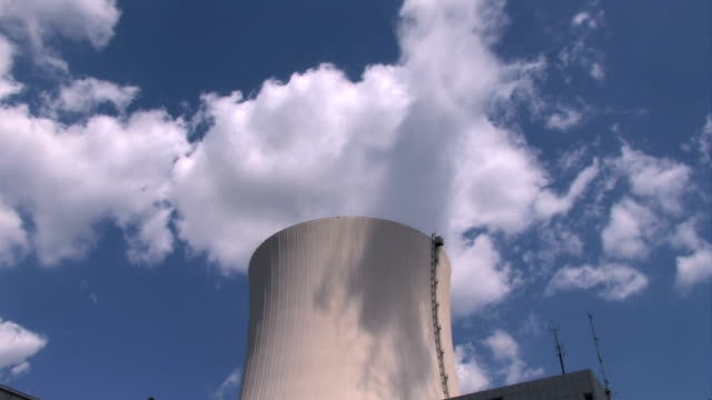 Nuclear power plant, cooling tower video