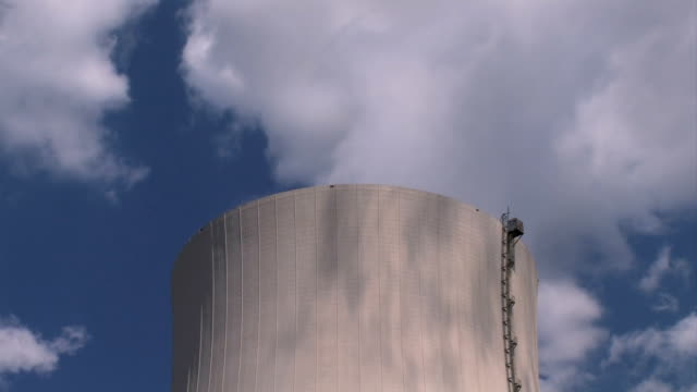 Nuclear power plant - cooling tower video