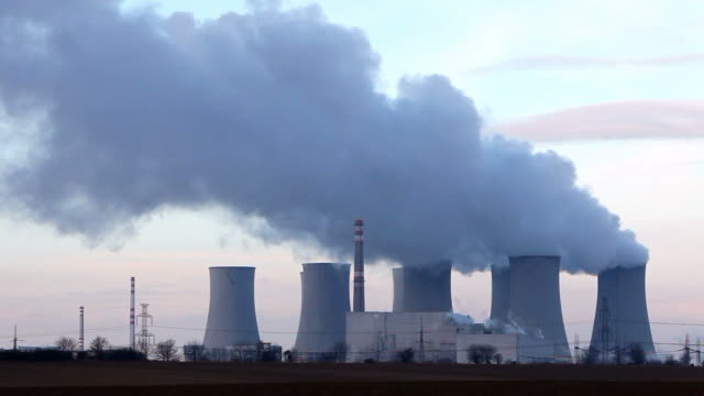 Nuclear Power plant - time lape video
