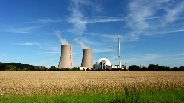 Nuclear Power Station and wheatfield video