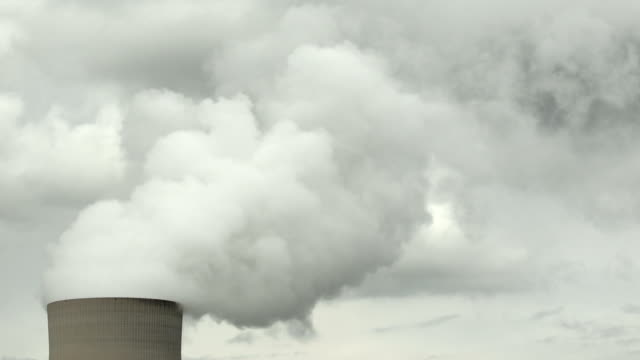 HD Nuclear Power Station Cooling Tower (Time Lapse) video