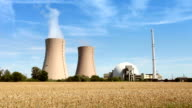 Nuclear Power Station - time lapse video