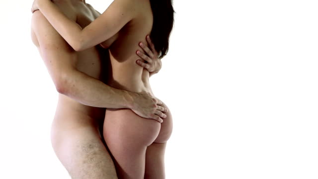 Nude couple in embrace video