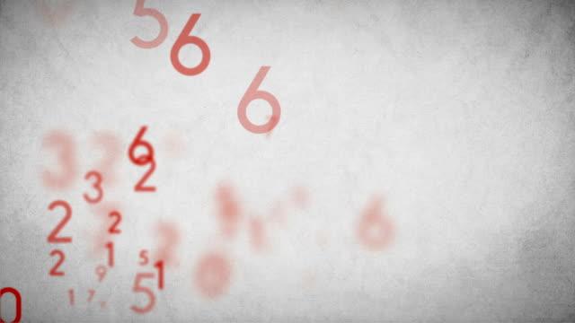Numbers Background Loop Red - Stock Video video
