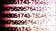 Numbers texture video