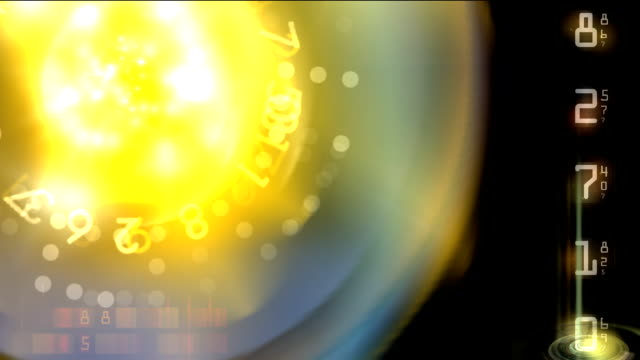Numerical background - digital animation video