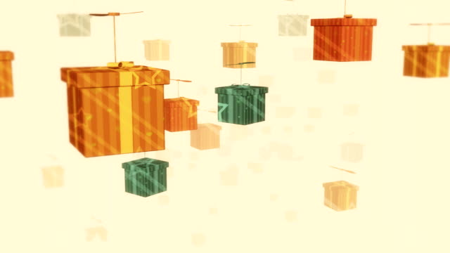 Numerous Colorful Boxes Flying video