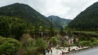 Nun ri lang Waterfalls in Jiuzhaigou Valley time-lapse video