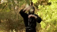 Nunchuck ninja turns in the woods video