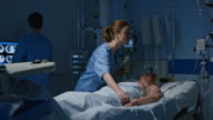 DS Nurse checking patient in the intensive care video