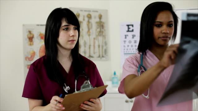 Nurses with X-Ray video