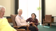 Nursing Care Home - Chatting and smiling video