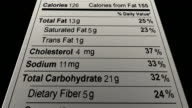Nutrition Facts Random Data video