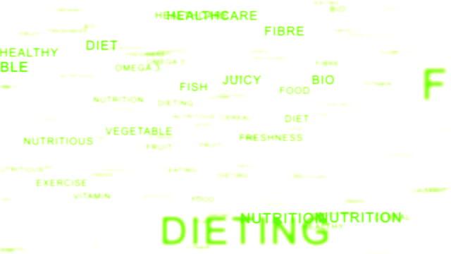 Nutrition Words forming Apple against white video