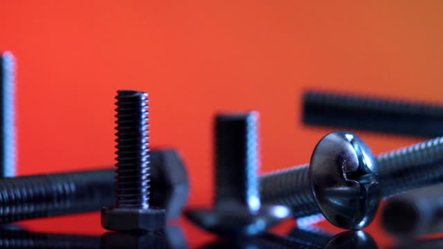 Nuts and bolts. slider shot. video