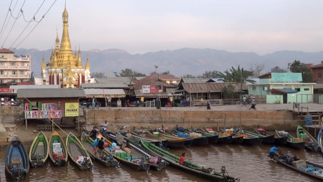 Nyaungshwe boat port video
