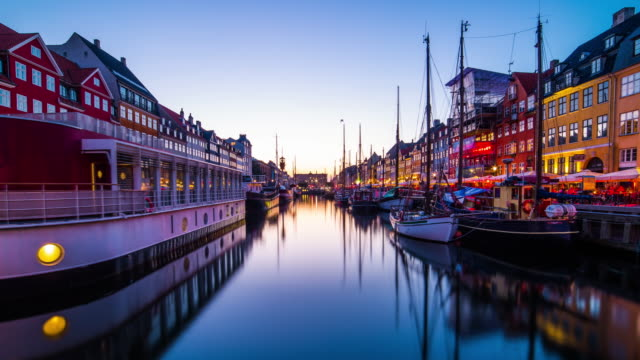 Nyhavn Channel in Copenhagen video