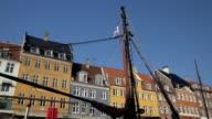 Nyhavn in Copenhagen - Shot from Canal Boat video