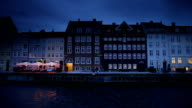 Nyhavn Panorama in Copenhagen Denmark video
