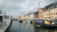 Nyhavn time lapse Copenhagen video