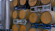 Oak Wine Barrels, Vintage and Aging Drink Brewery Storage video