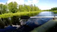 oar rowing on the water video