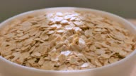 oat flakes, close up video