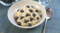 Oatmeal and Blueberry Breakfast Fly Over video