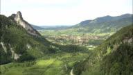 Oberammergau  - Aerial View - Bavaria,  Upper Bavaria,  Landkreis Garmisch-Partenkirchen helicopter filming,  aerial video,  cineflex,  establishing shot,  Germany video