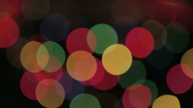 Objects Colorful blinking christmas lights on black background video