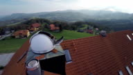 Observatory in the middle of a countryside video