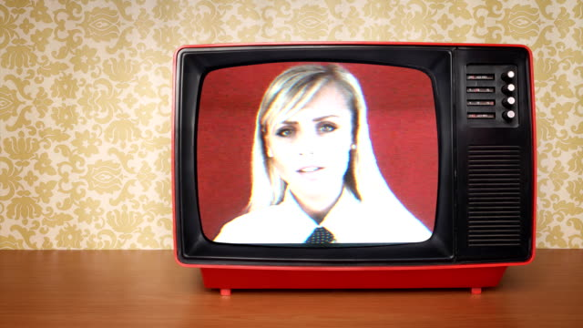 Obsolete TV with Bad Signal video