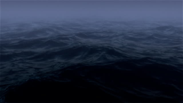 Ocean at Night with Fog video