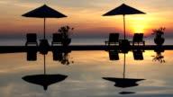 ocean beach and pool sunset video