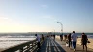 Ocean Beach Pier in San Diego, California video