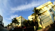 Ocean Drive Miami home to luxury Art Deco hotels, Florida, USA video