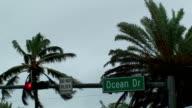 Ocean drive South Beach Miami Storm video
