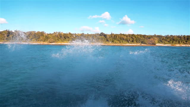 Ocean Foam water flow spray and splash video