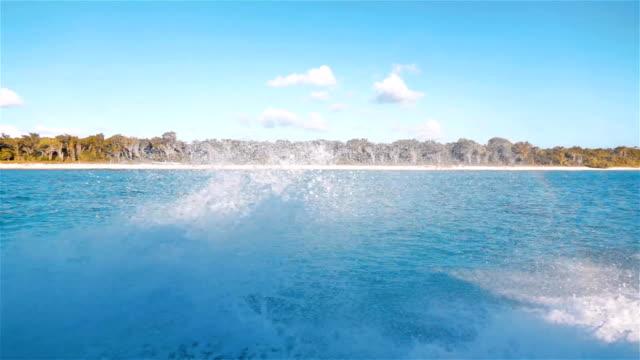 Ocean Foam water flow spraying and splashing video