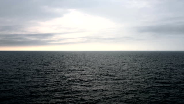Ocean ripple with Beautiful Clouds in gry Sky - Around Sunset/sunrise video