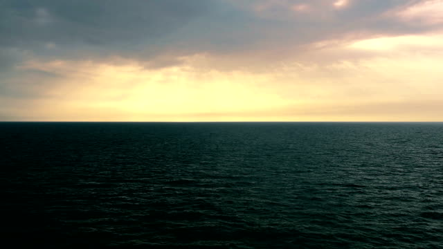 Ocean ripple with Beautiful Clouds in orange Sky - Around Sunset/sunrise video